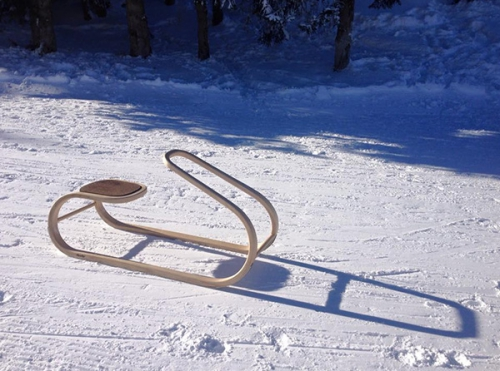 Luge, design, made in France, montagne, sport d'hiver, glissade
